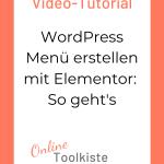 WordPress Menü erstellen mit Elementor