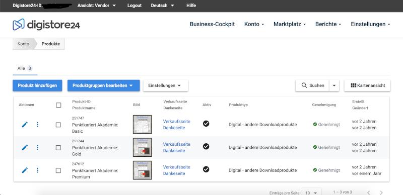 Onlinekurs Tools: Digistore24